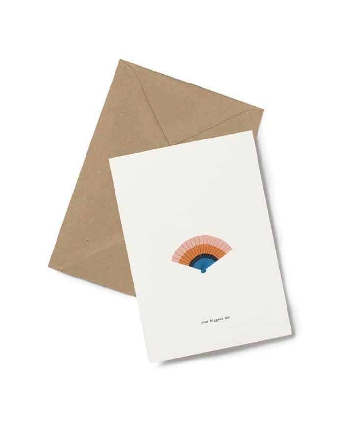 Kartotek 'your biggest fan' Greeting Card