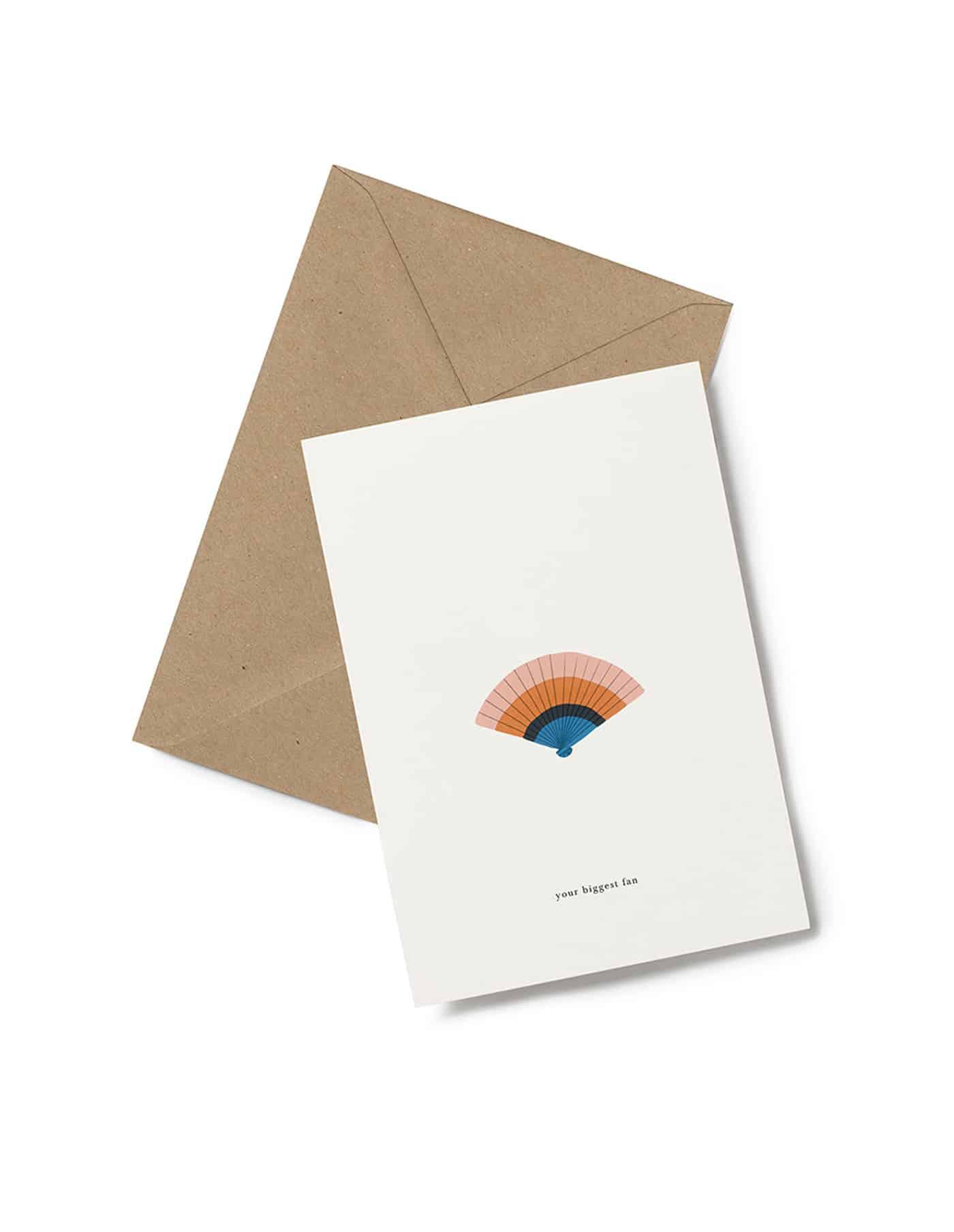 Kartotek 'your biggest fan' Greeting Card