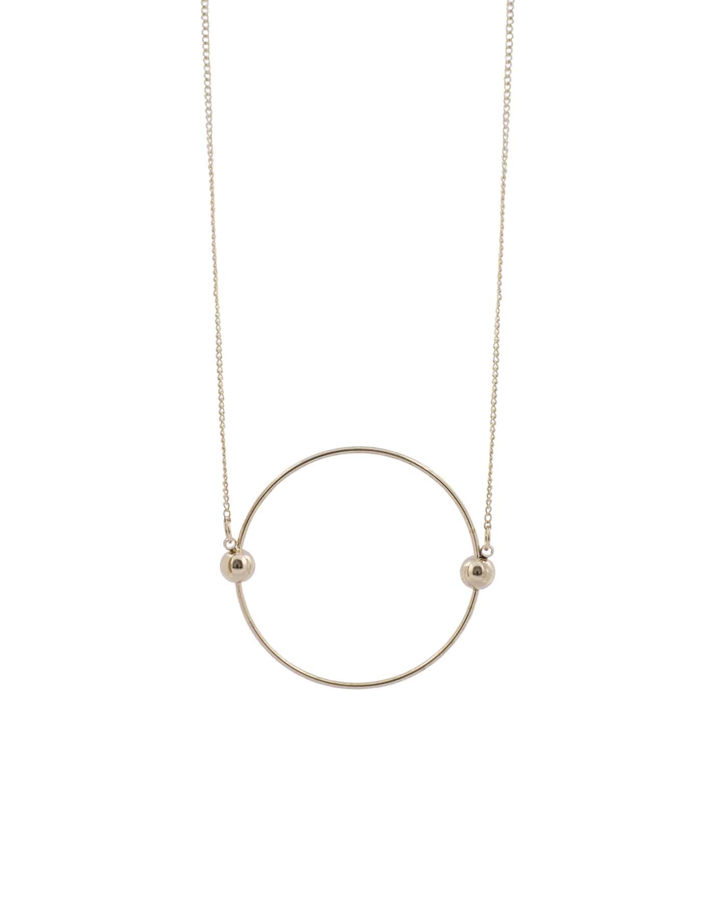 Gold circle necklace nordicmuse aloadofball Image collections