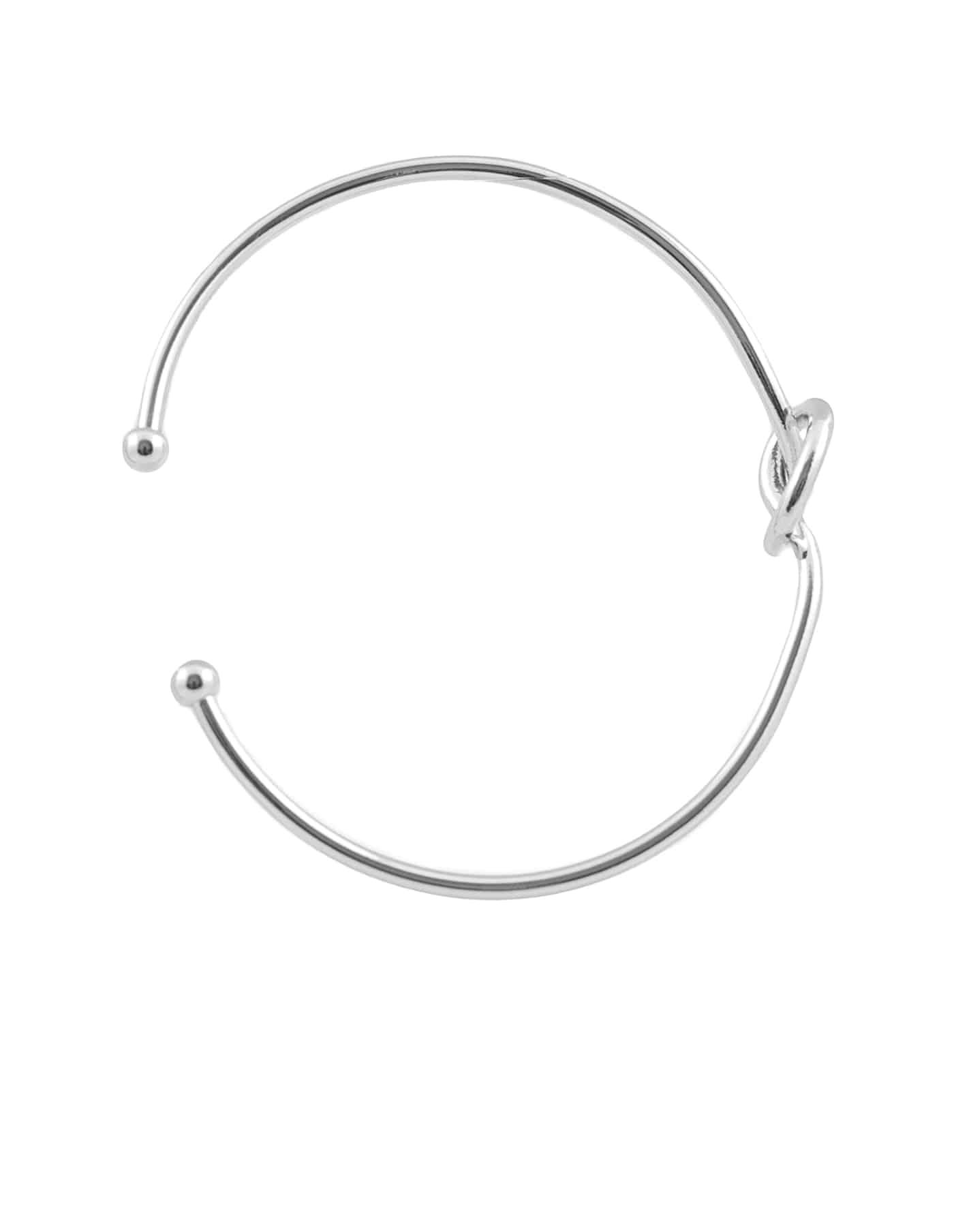 Silver Knot Bangle
