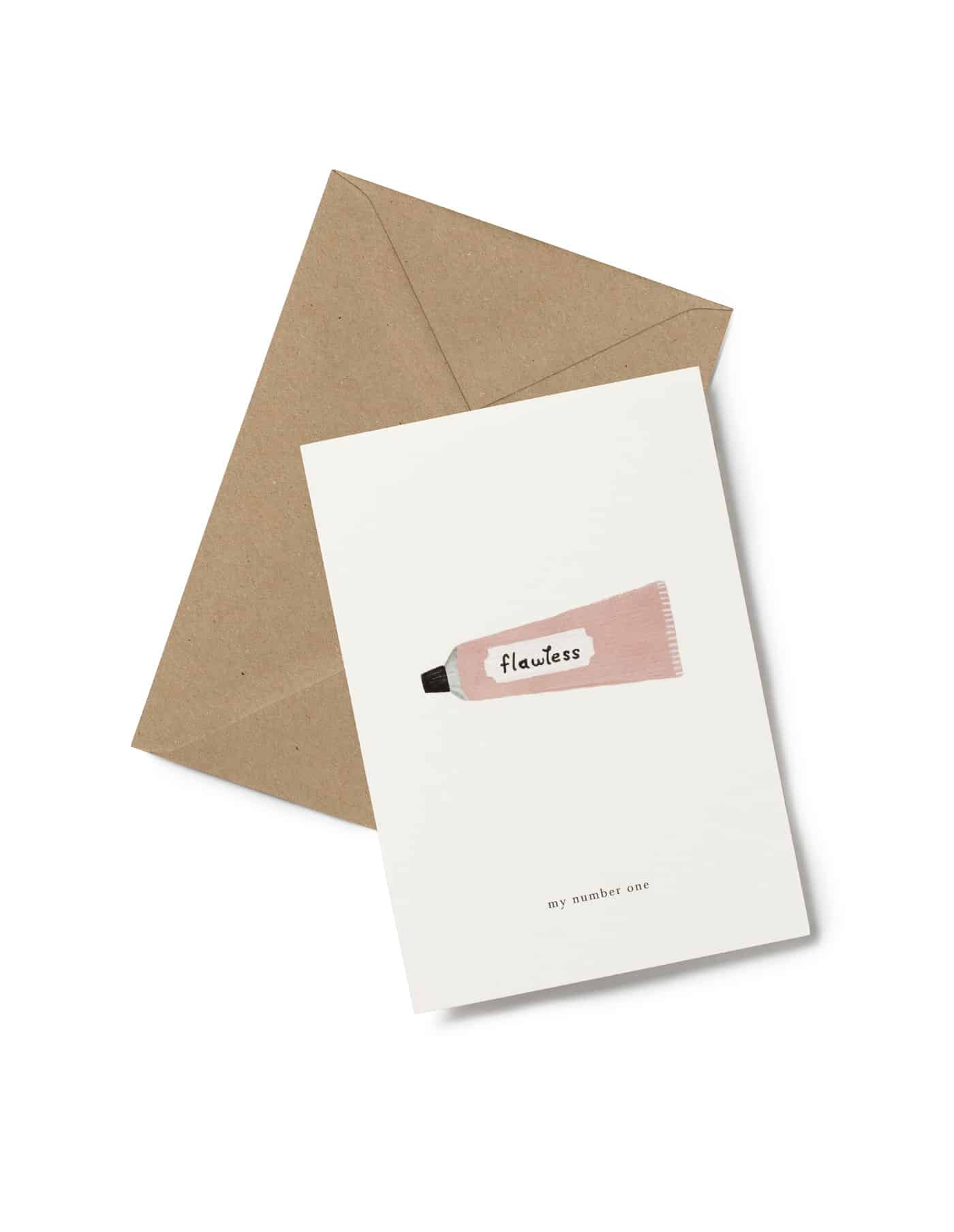 Kartotek 'flawless' Greeting Card