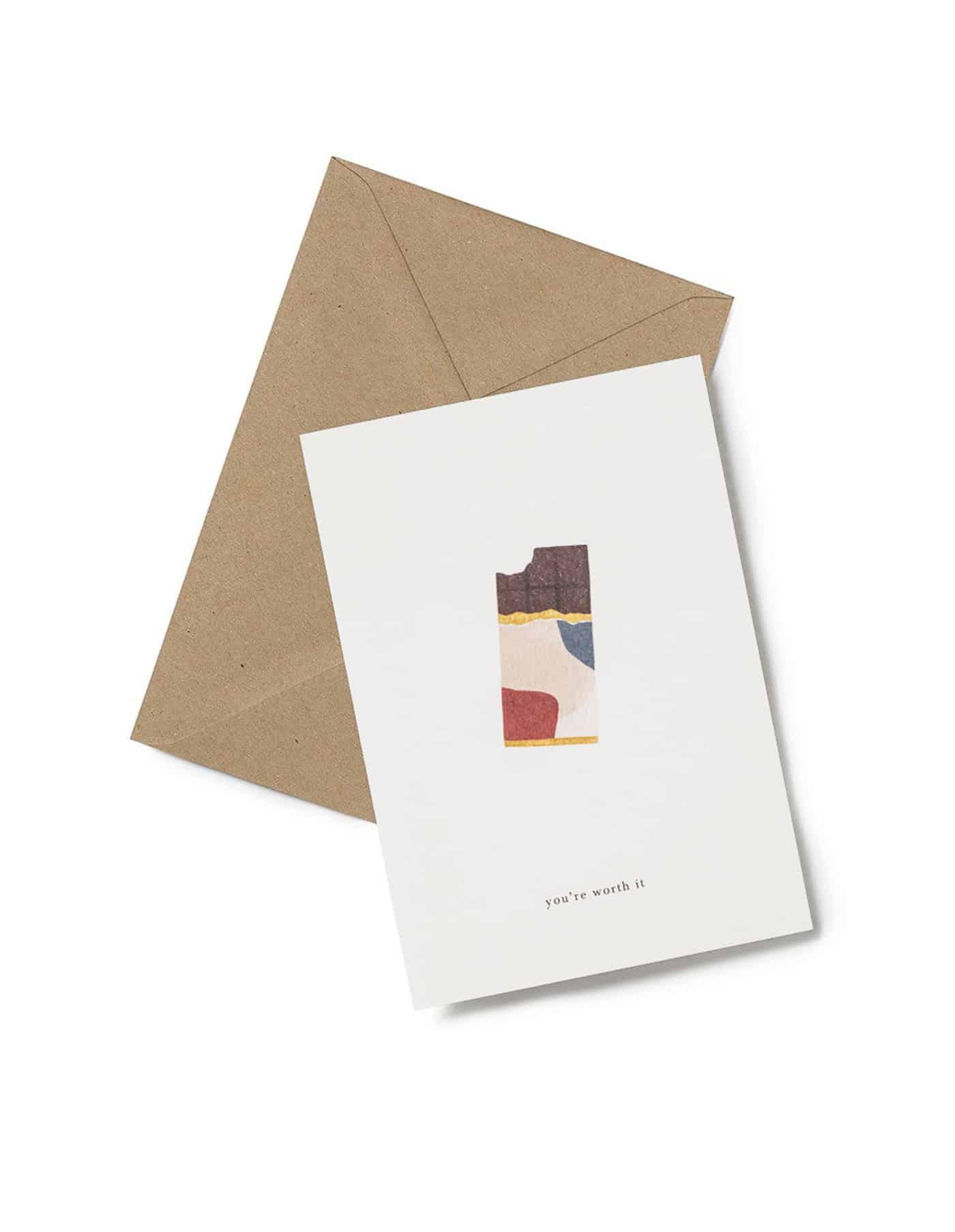 Kartotek 'you're worth it' Greeting Card