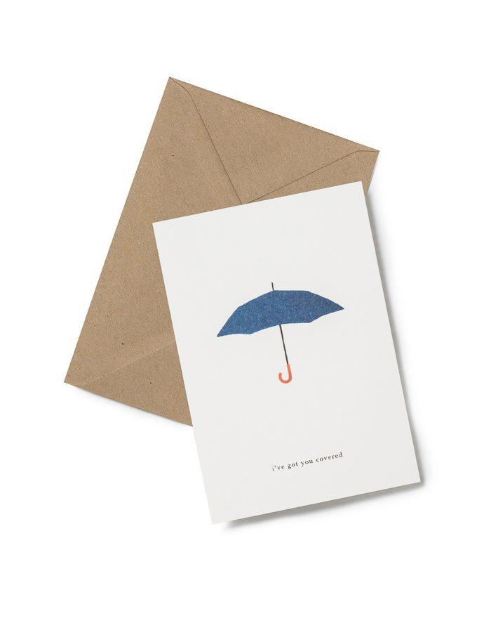 Kartotek 'i've got you covered' Greeting Card