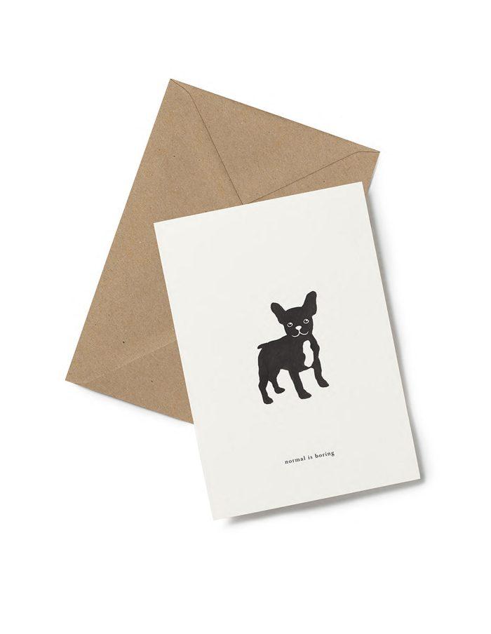 Kartotek 'normal is boring' Greeting Card