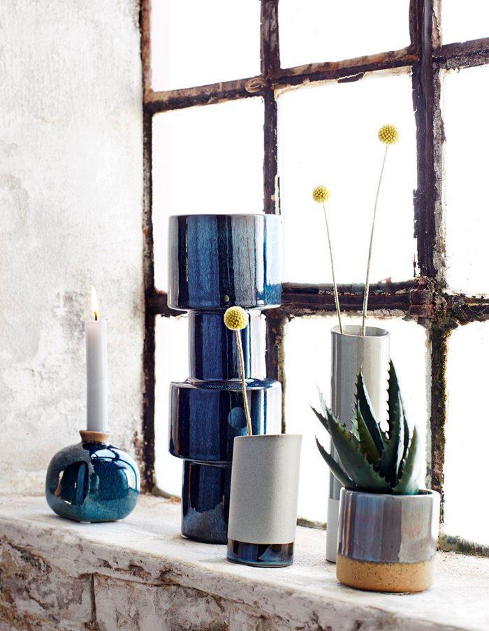 Madam Stoltz Two Tone Plant Pot, Grey