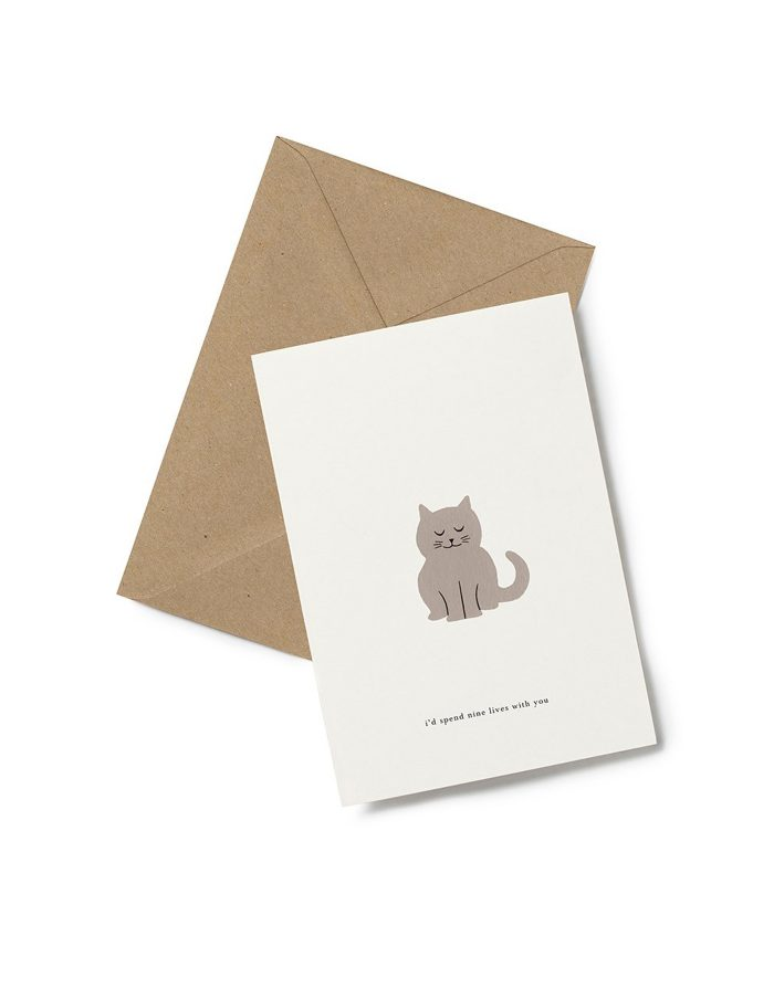 Kartotek 'nine lives' Greeting Card