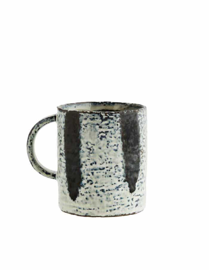 Madam Stoltz Stoneware Mug, Striped