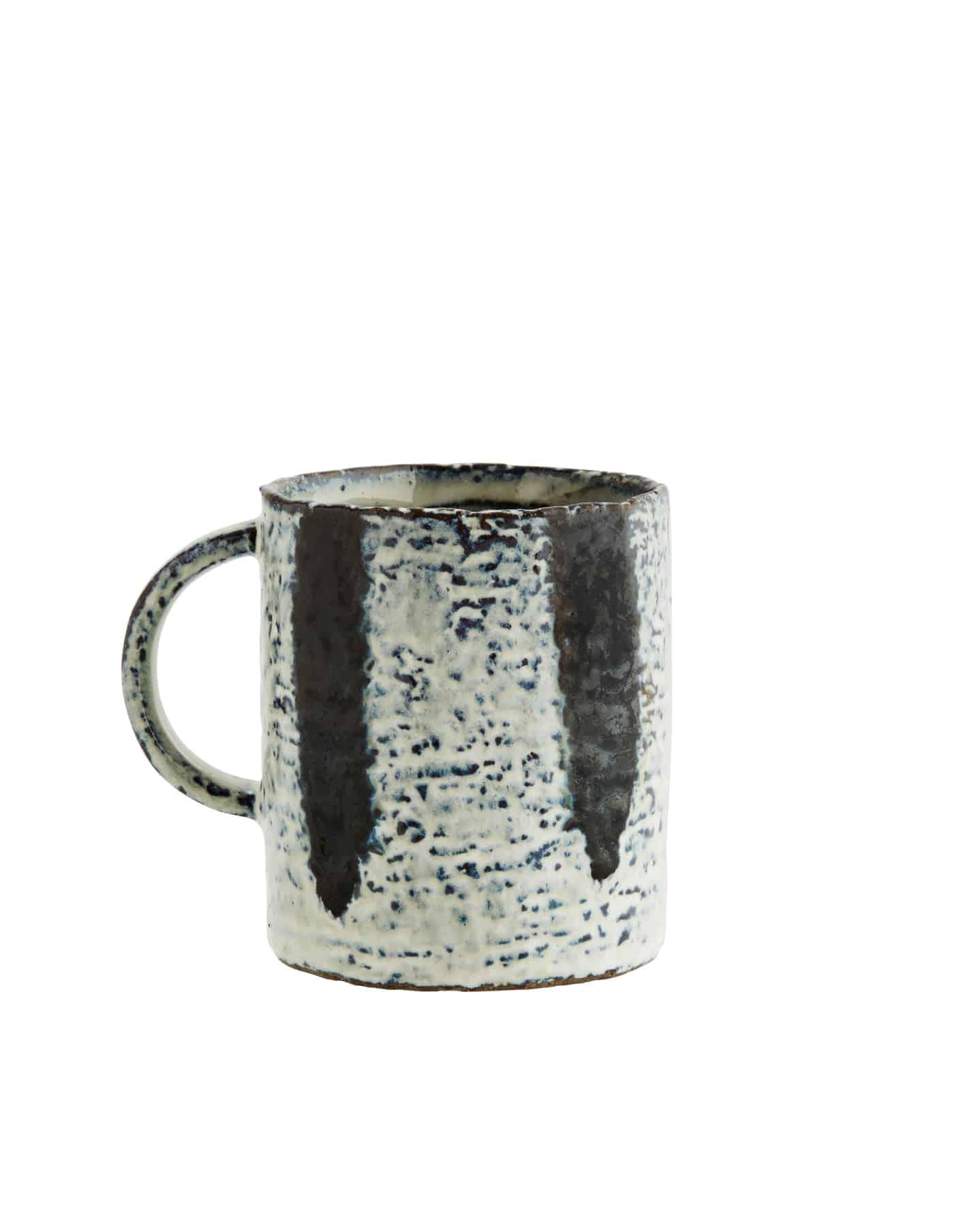 Madam Stoltz Stoneware Mug, Striped