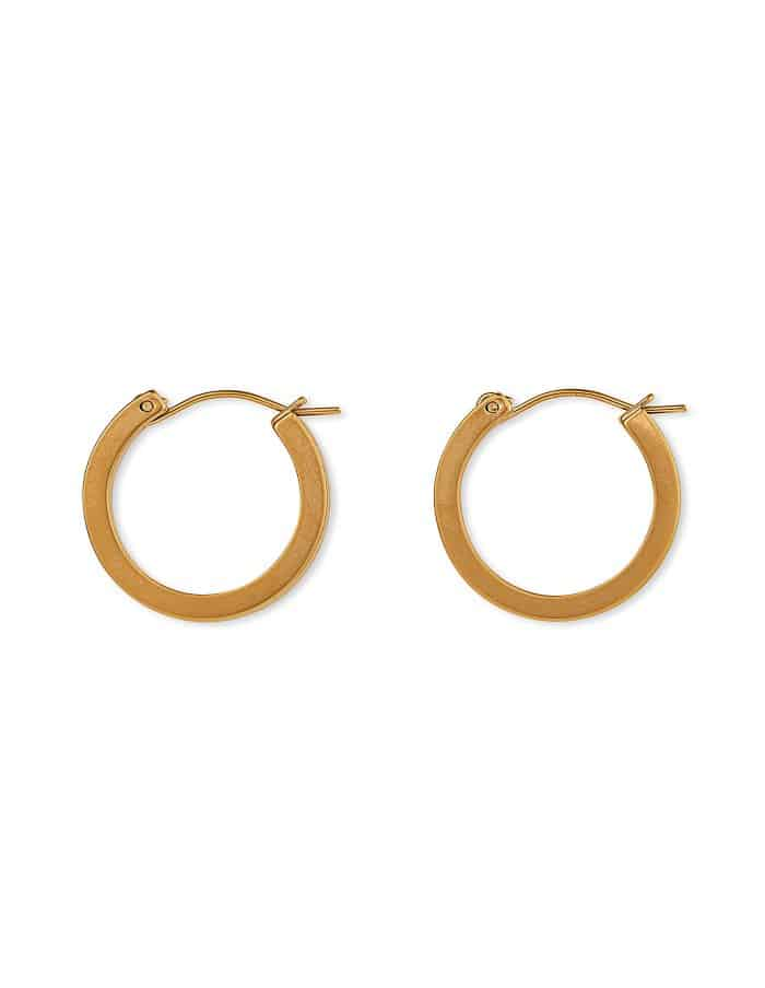 Matte Gold Hoop Earrings, Small