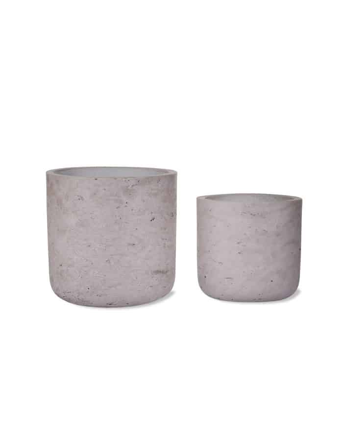 Cement Plant Pot, Two Sizes