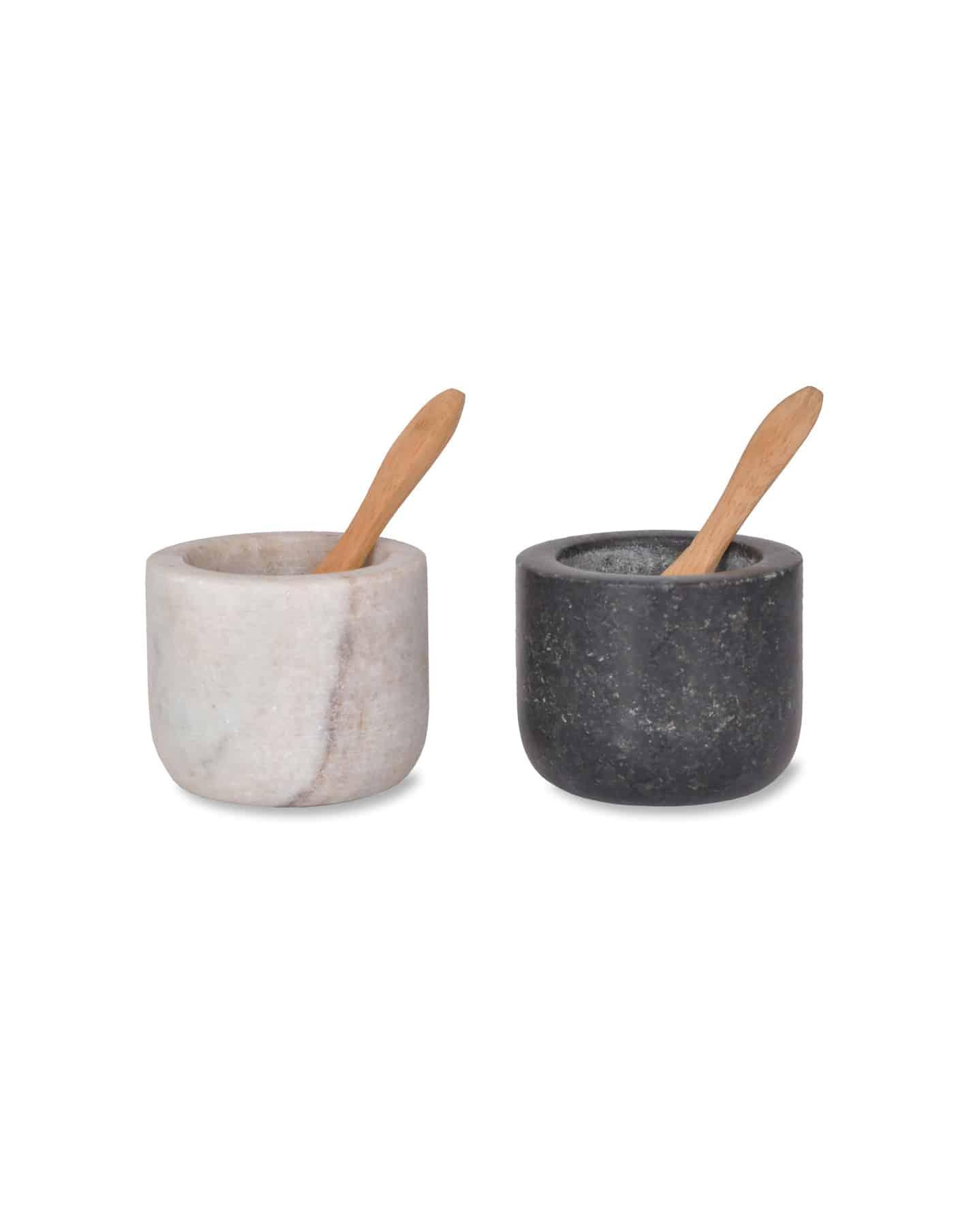 Granite Salt and Pepper Pots