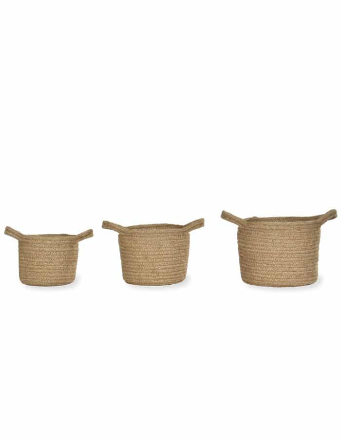 Waterproof Jute Pots, Three Sizes