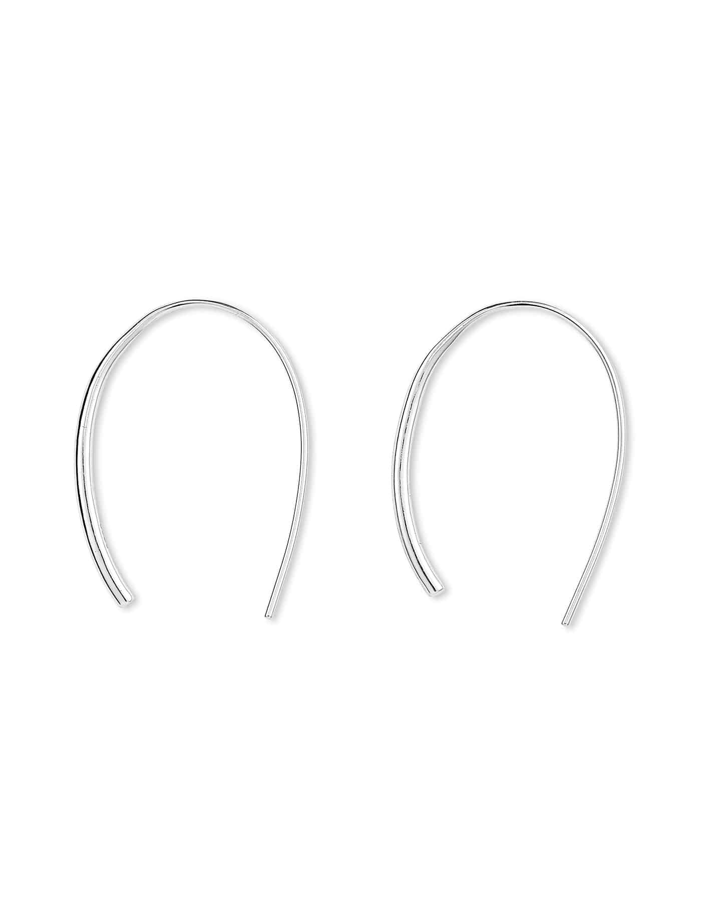Silver Open Hoop Earrings