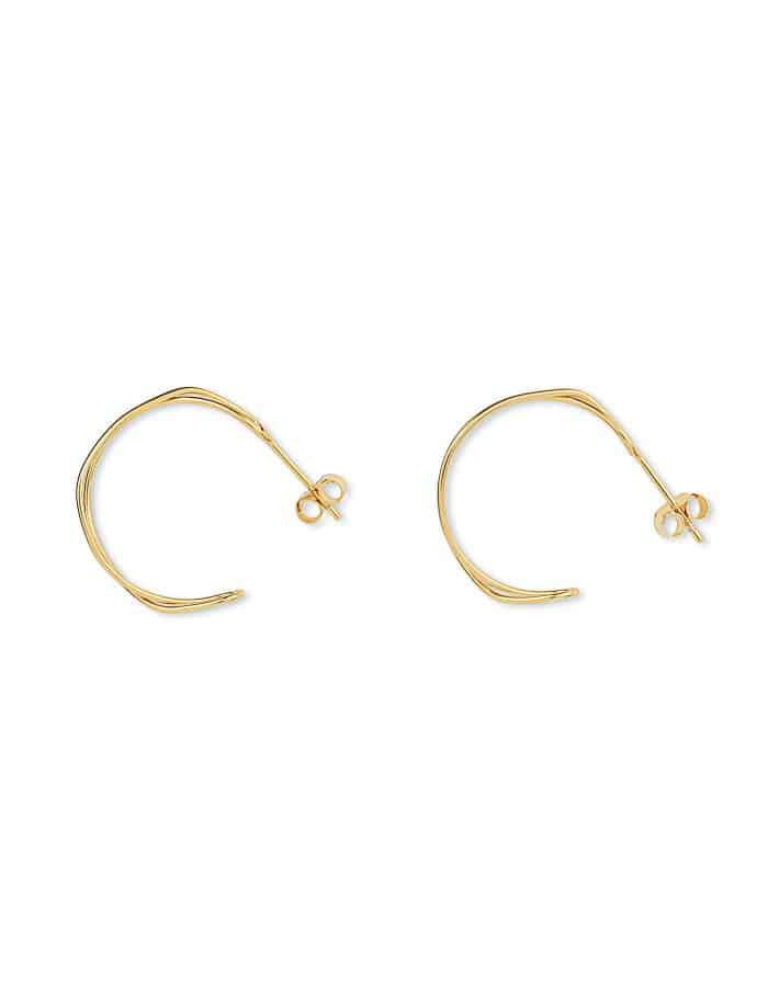 Gold Double Twist Hoop Earrings