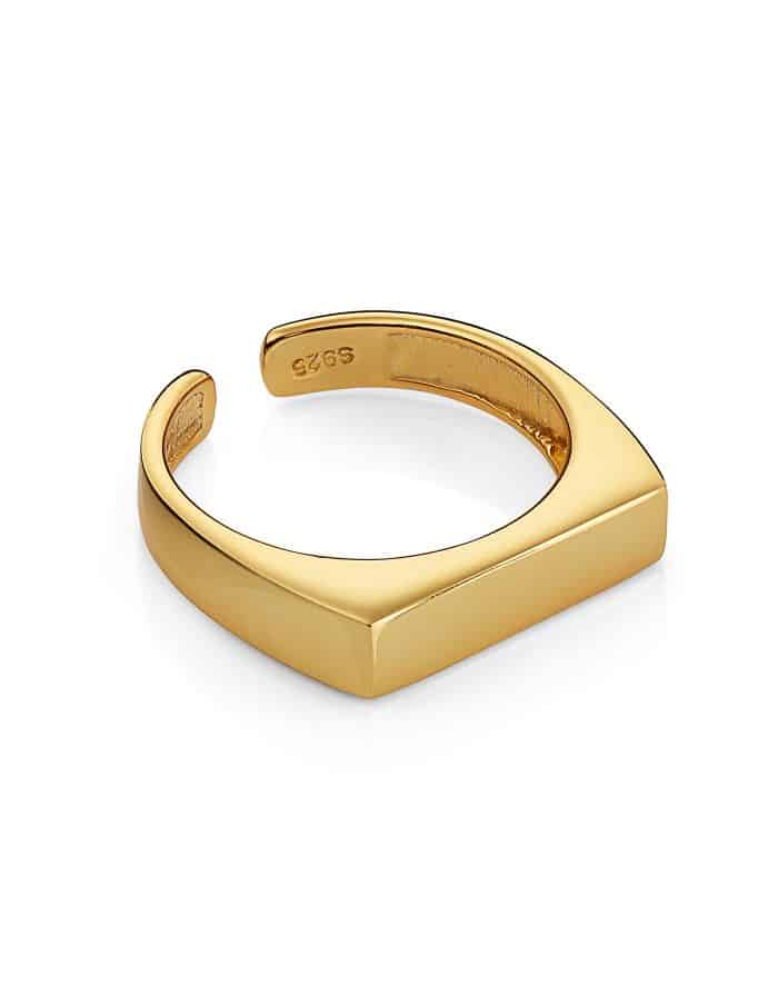 Gold Vermeil Signet Ring