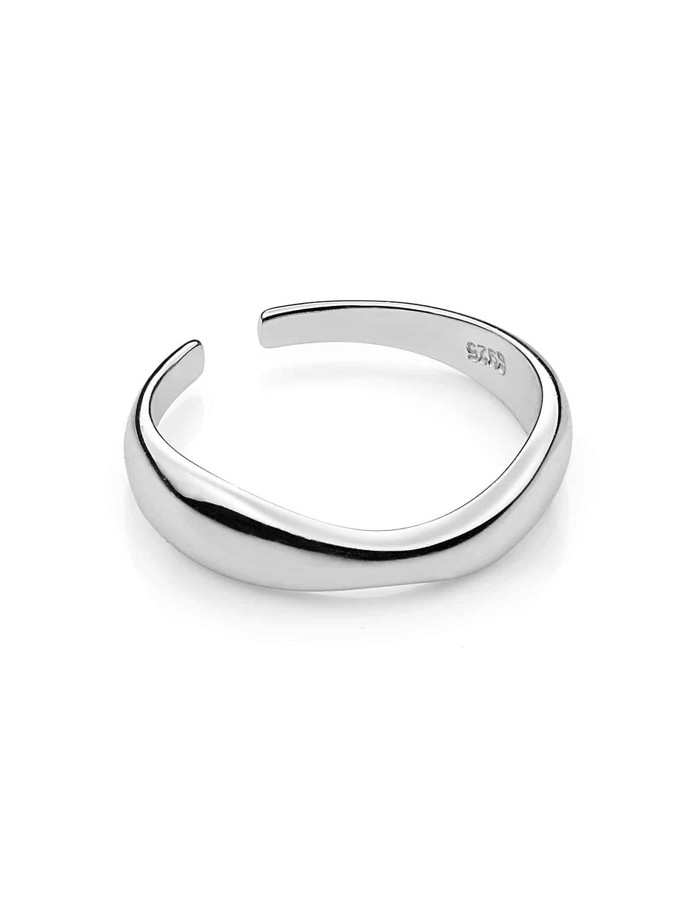 Silver Adjustable Irregular Ring