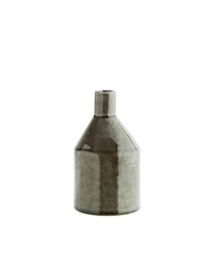Madam Stoltz Stoneware Vase, Grey