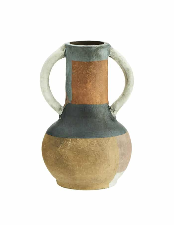Madam Stoltz Terra Cotta Vase, Multi-coloured