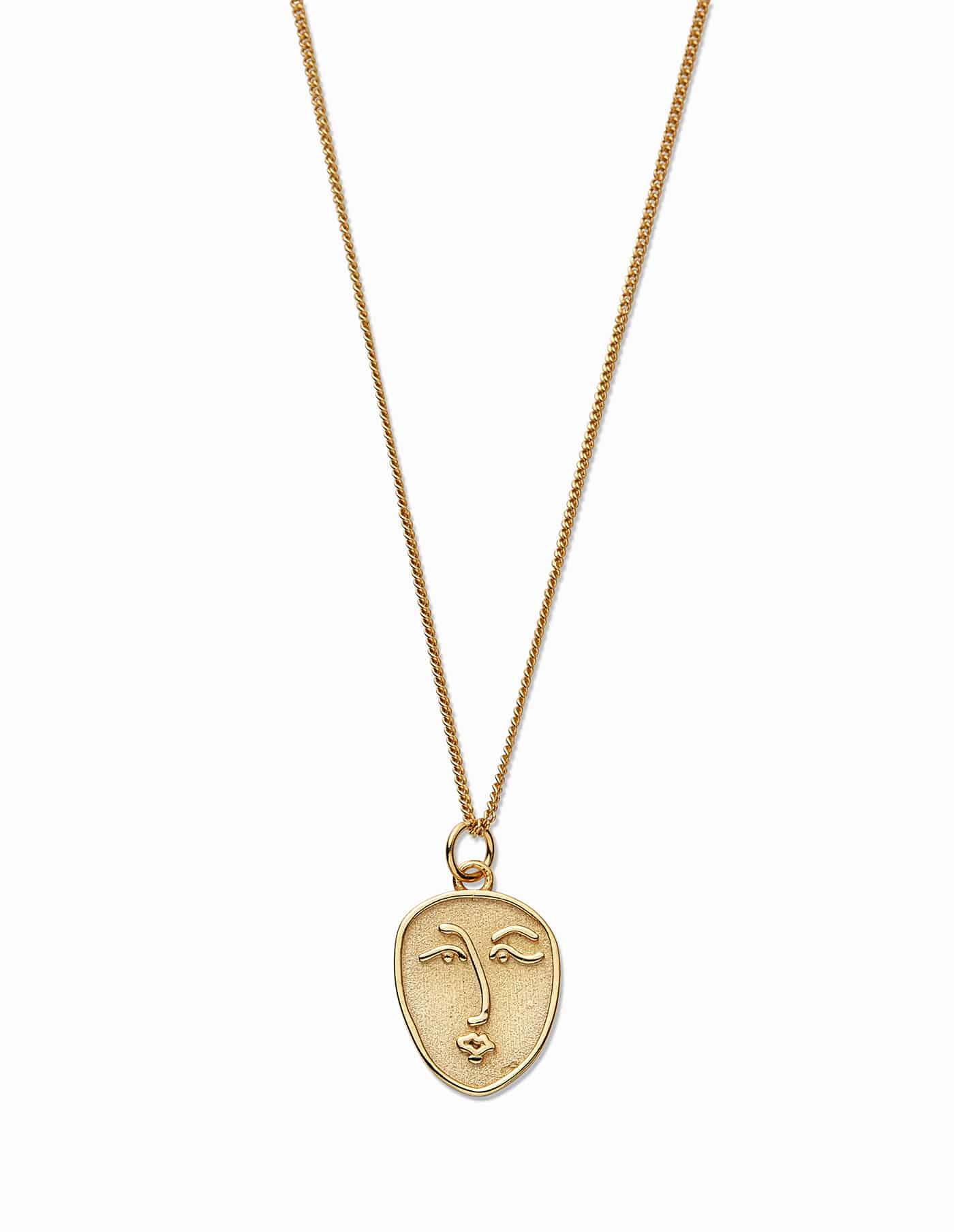 Gold Vermeil Face Necklace