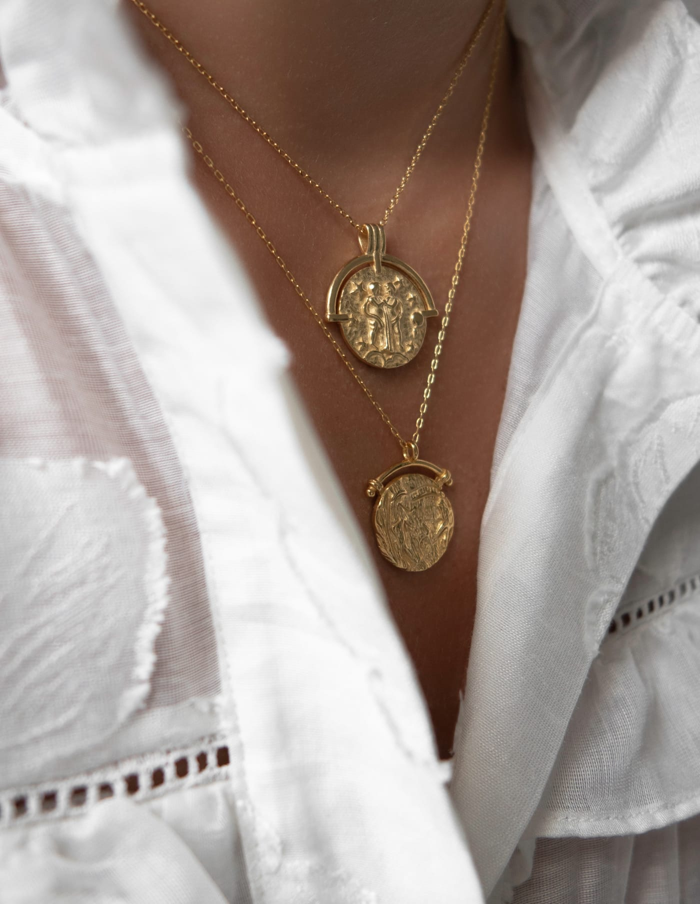 Gold Vermeil Coin Necklace