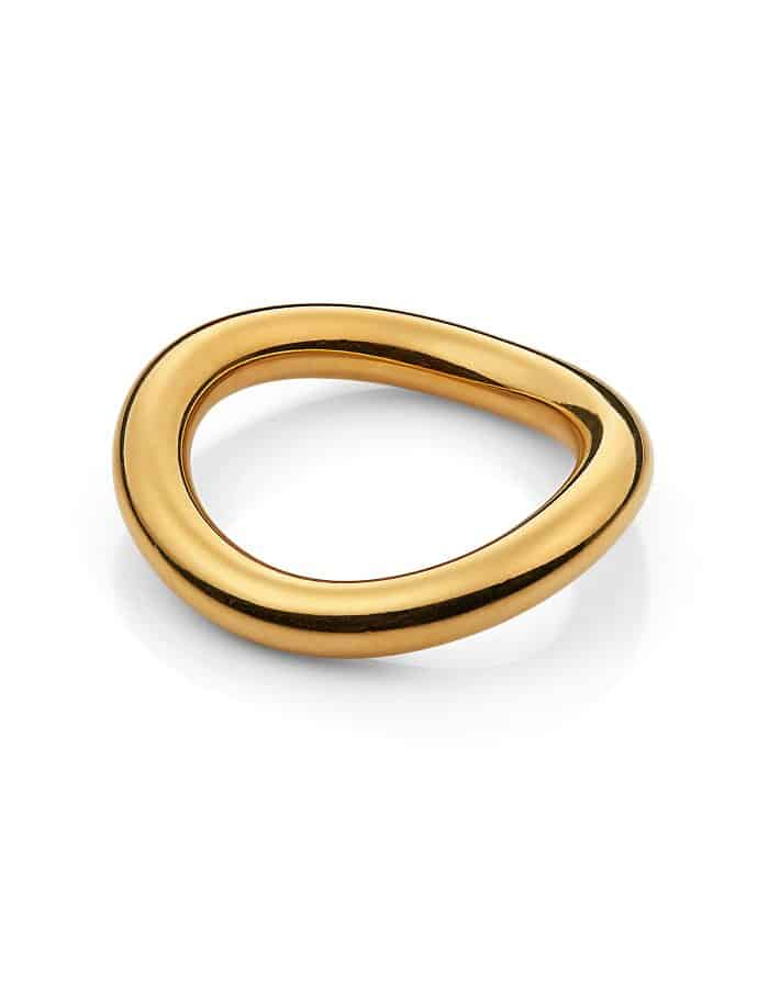 Gold Irregular Band Ring, Forever Lasting