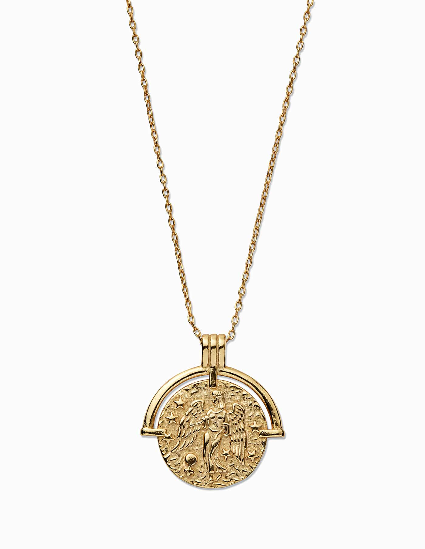 Gold Virgo Zodiac Necklace