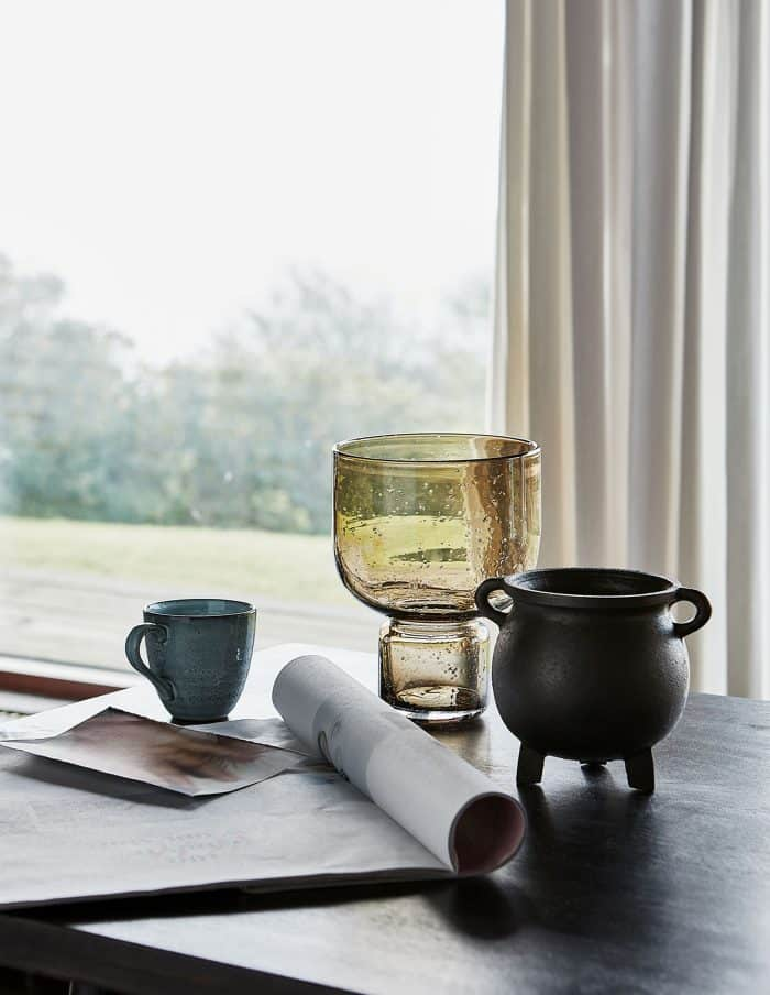 Amber Glass Vase, House Doctor