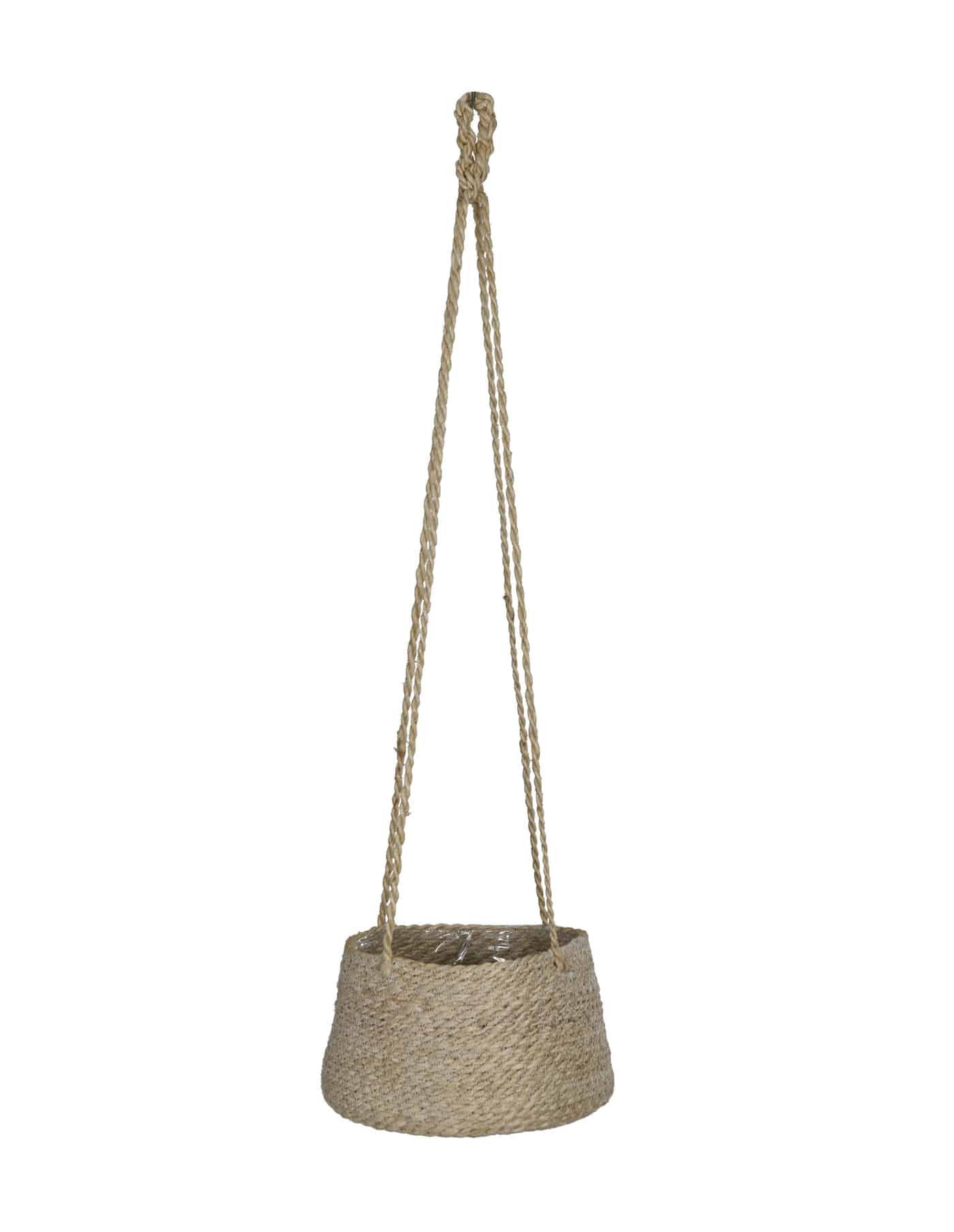 Tapered Jute Hanging Plant Pot