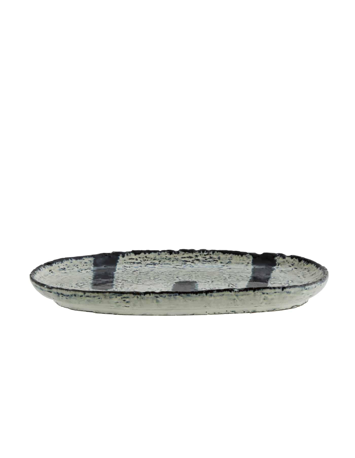 Madam Stoltz Striped Platter