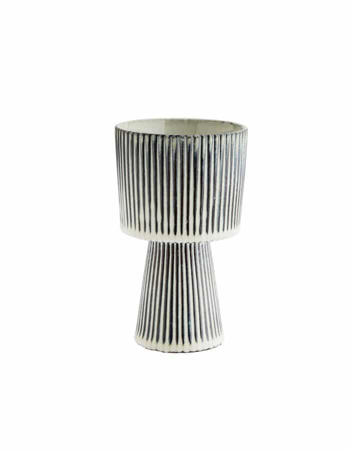 Madam Stoltz Striped Plant Pot