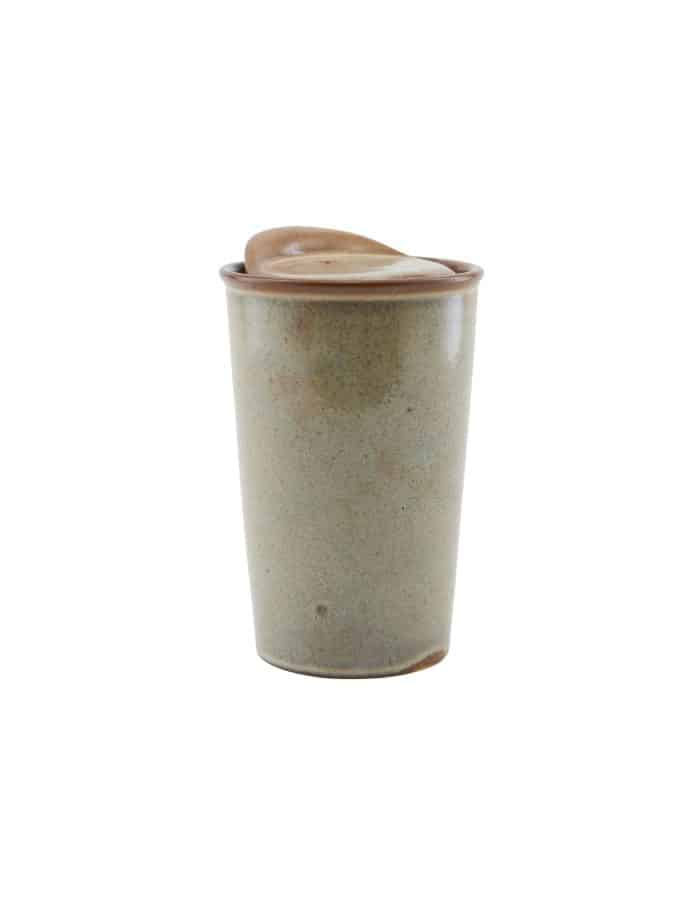 Brown Stoneware Travel Mug, House Doctor