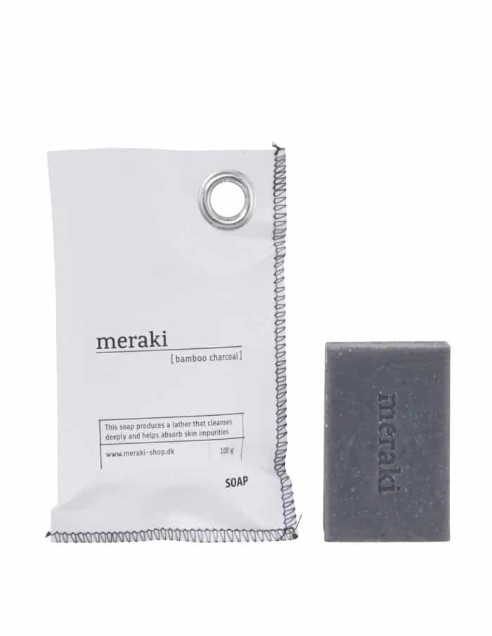 Meraki Bamboo Charcoal Soap Bar