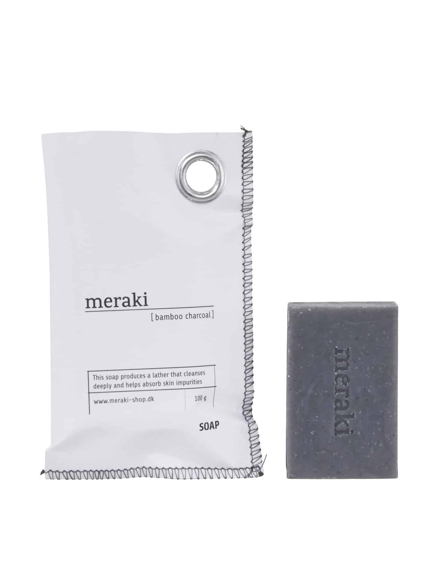 Meraki Bamboo Charcoal Soap Bar