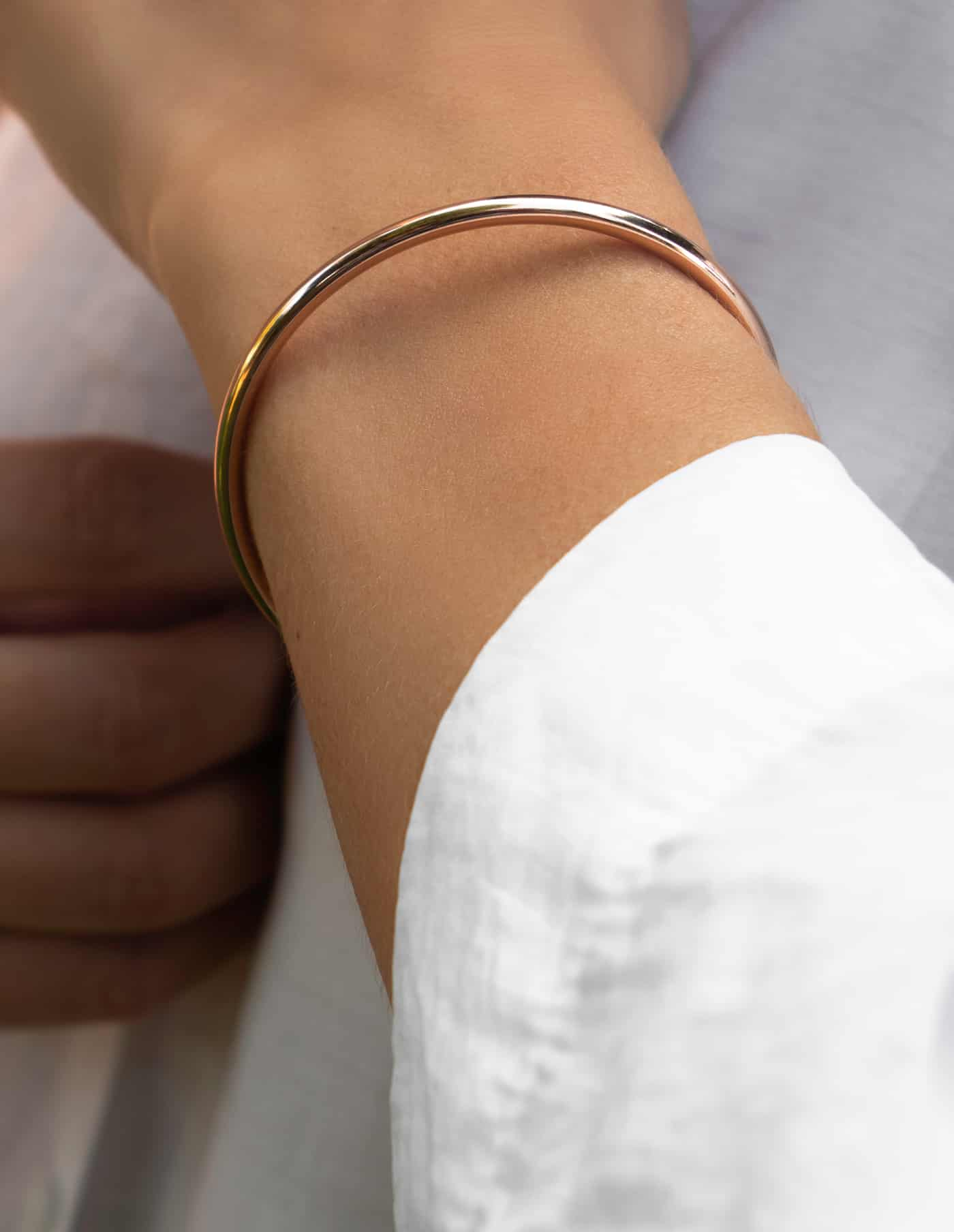 Simple Rose Gold Bangle, Forever Lasting