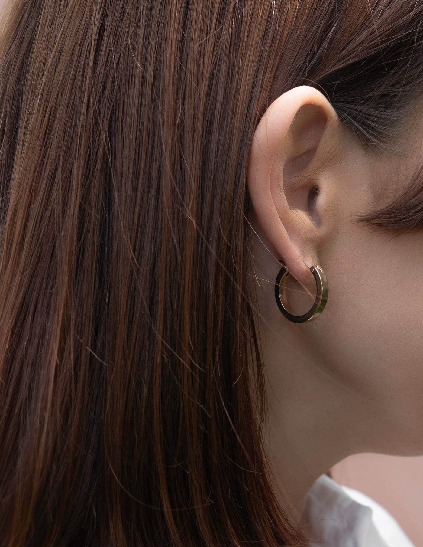 Small Rose Gold Hoop Earrings, Forever Lasting