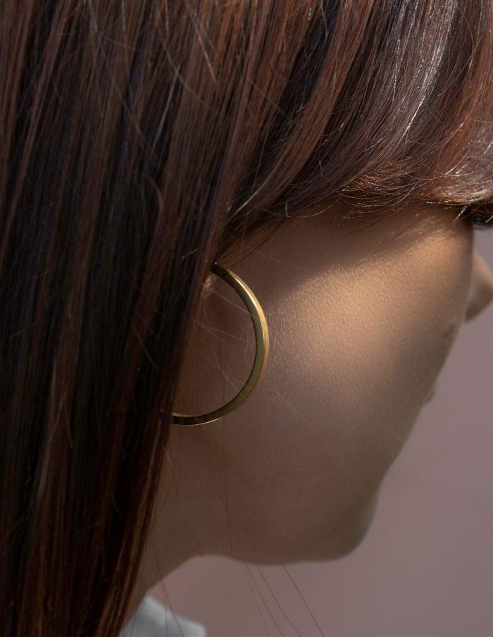 Gold Hoop Earrings, Forever Lasting
