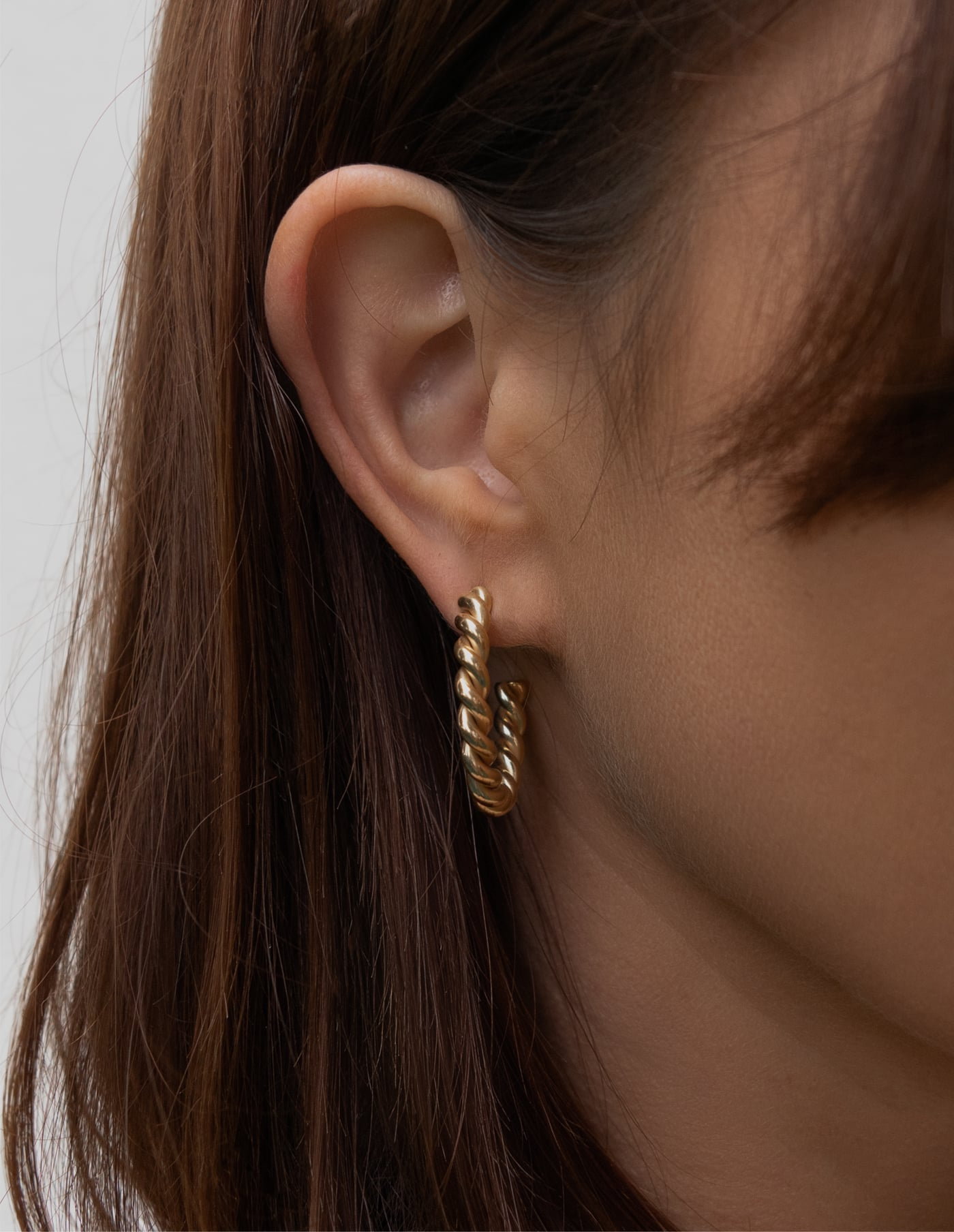 Gold Twist Hoop Earrings, Forever Lasting