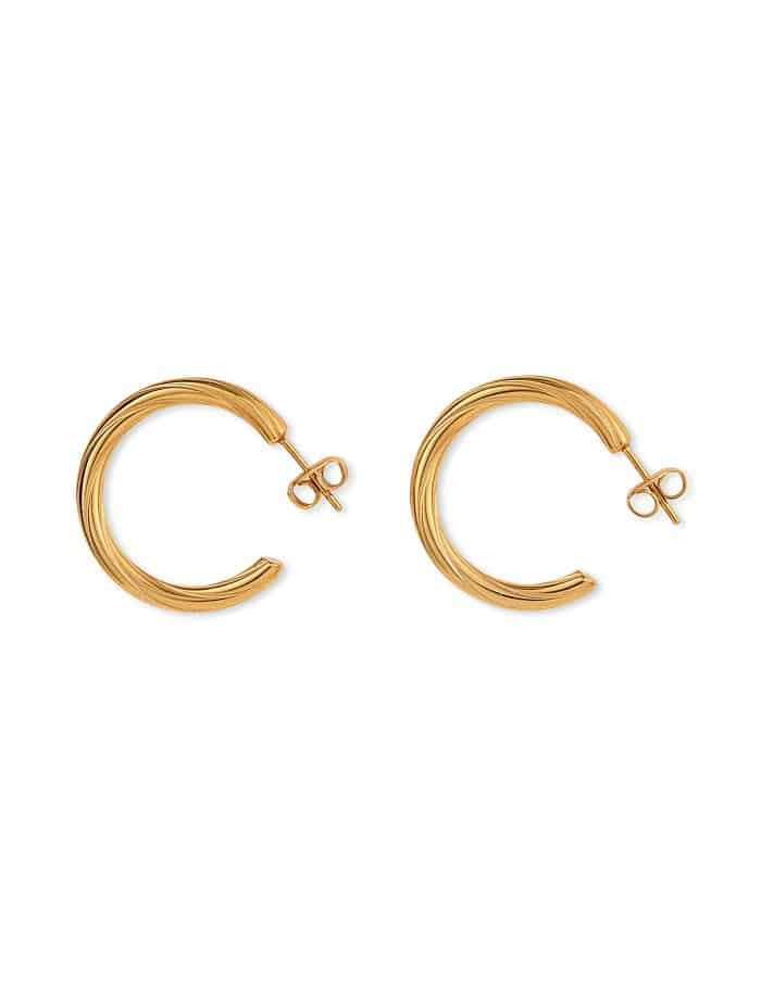 Gold Helix Hoop Earrings, Forever Lasting