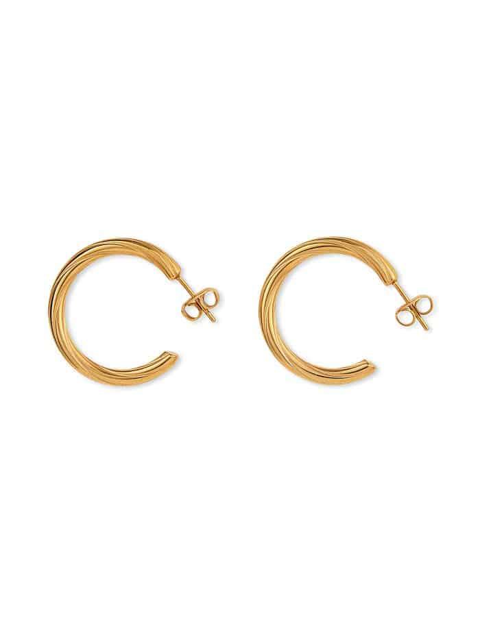 Gold Helix Hoop Earrings, Forever Lasting