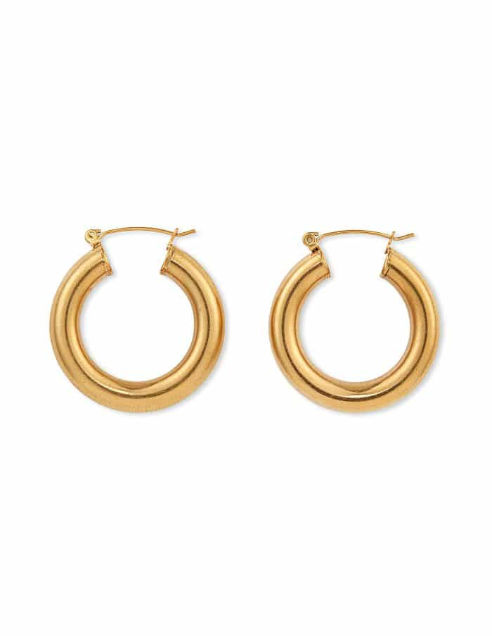 Classic Gold Bold Hoop Earrings, Forever Lasting