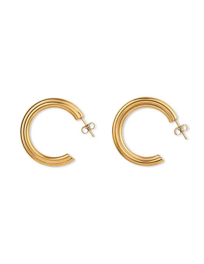 Layered Gold Hoop Earrings, Forever Lasting