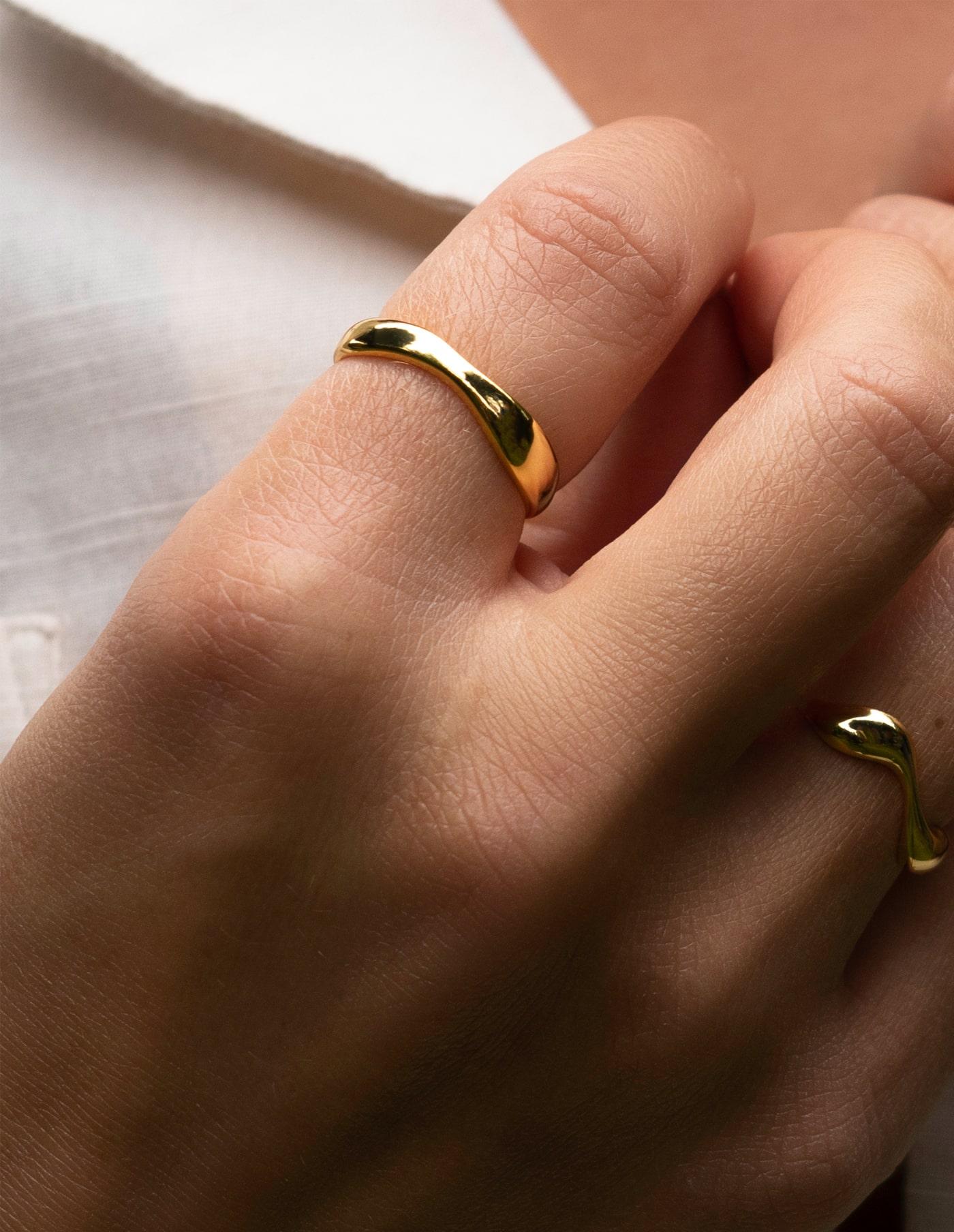 Gold Adjustable Irregular Ring