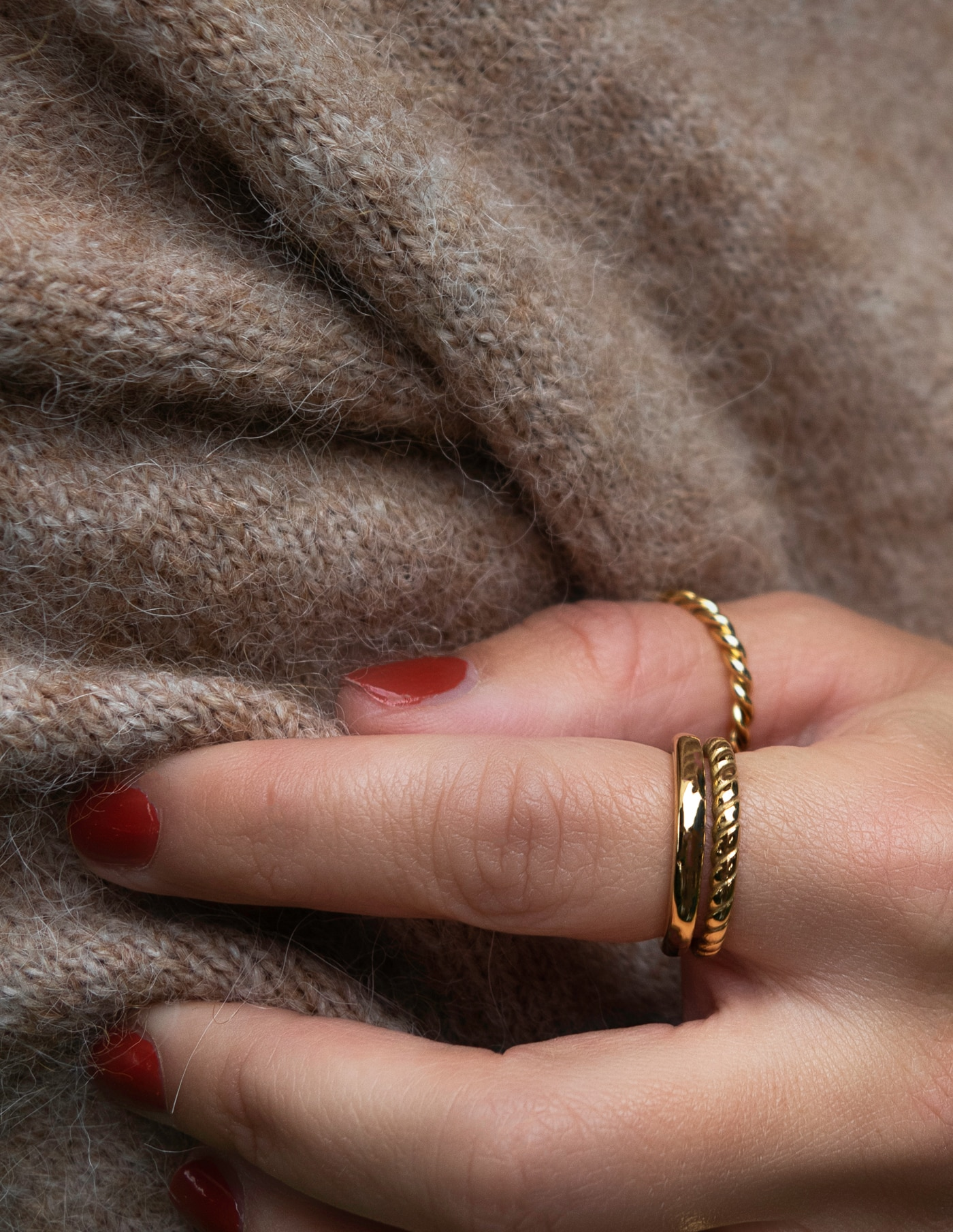 Gold Layered Twist Ring, Forever Lasting