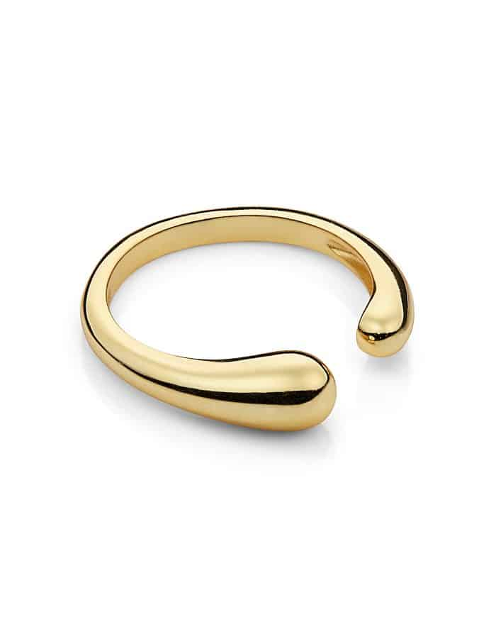 Gold Adjustable Fluid Shape Ring