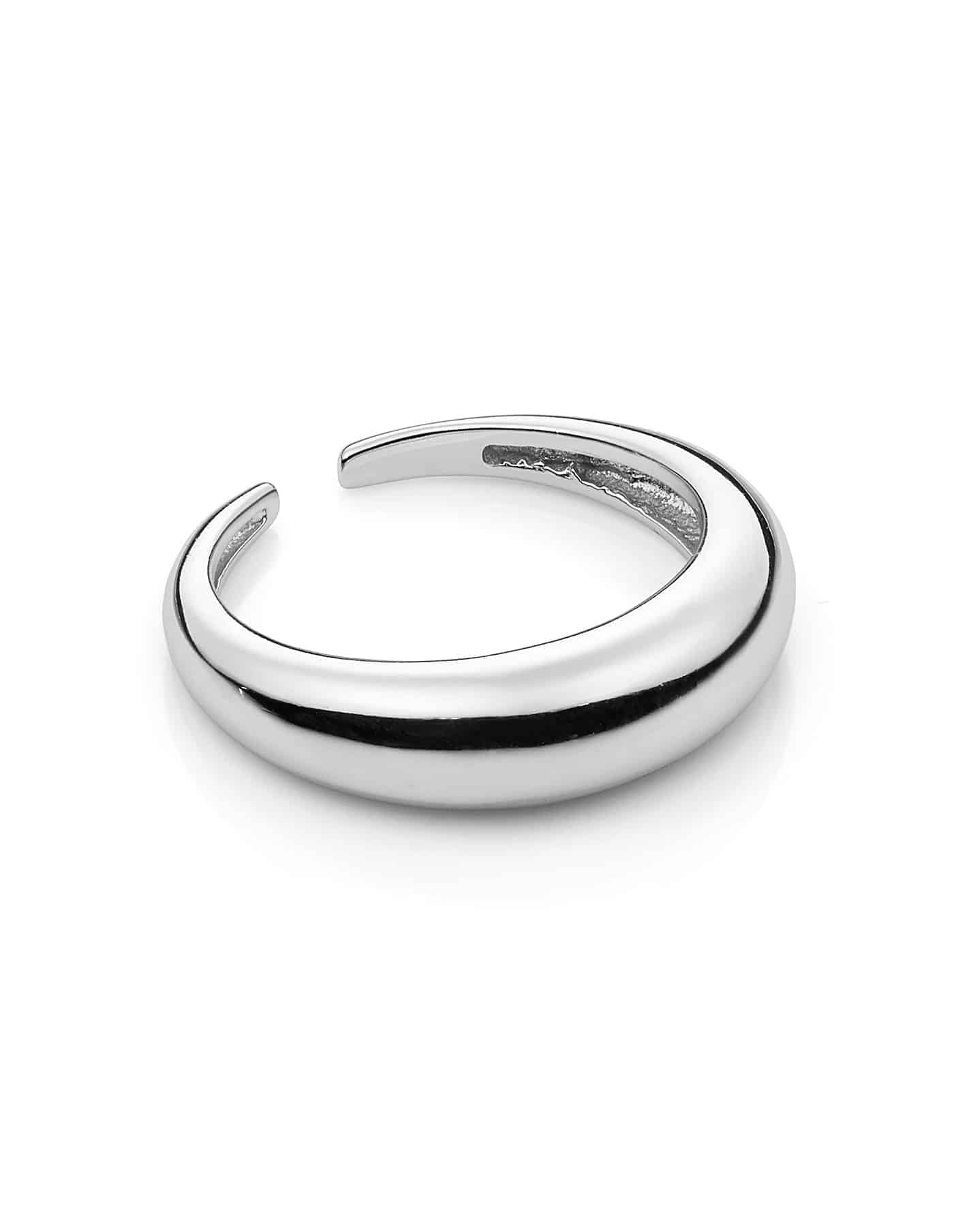 Silver Adjustable Small Dome Ring
