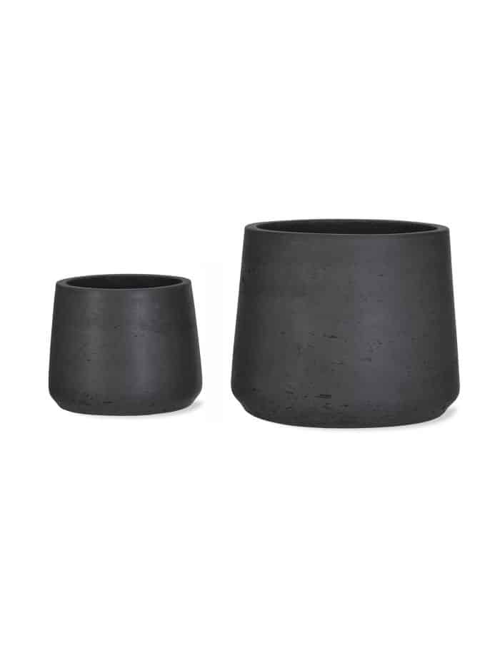 Carbon Tapered Plant Pots, Set of 2