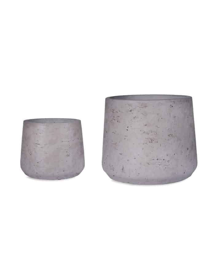 Tapered Concrete plant Pots, Set of 2