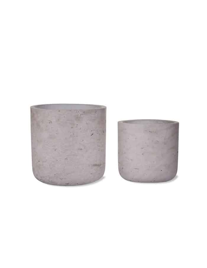 Concrete Plant Pot, Set of 2