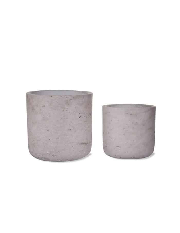 Concrete Plant Pot, Set of 2