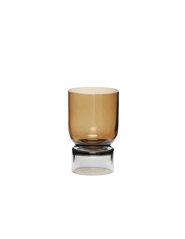 Hübsch Handmade Glass Vase, Amber/Grey